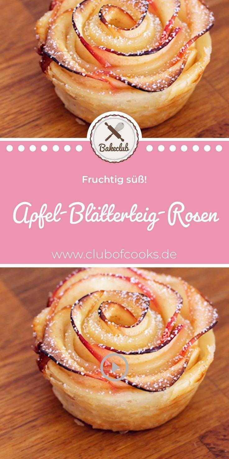 Ihr wolltet schon immer mal wissen, wie man diese unglaublich schönen Apfel-Blätterteig-Rosen ganz einfach selbst nachmacht? Schaut euch dafür jetzt unser schnelles Rezept auf YouTube an. Einfach auf Besuchen klicken und ihr gelangt direkt zum Step by Step Video! #leckerekuchen
