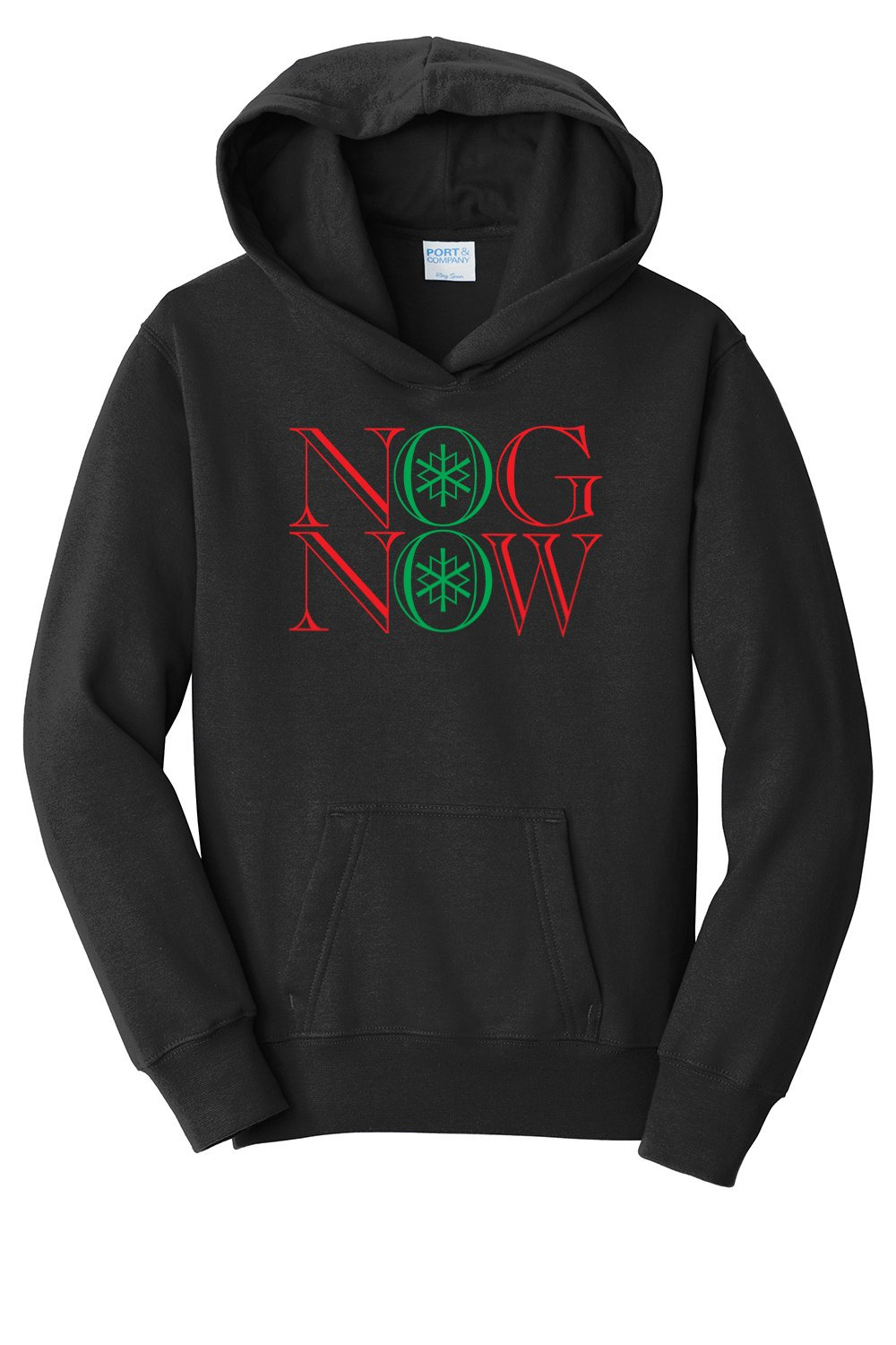 Youth's Nog Now Hooded Sweatshirt, Small, Black