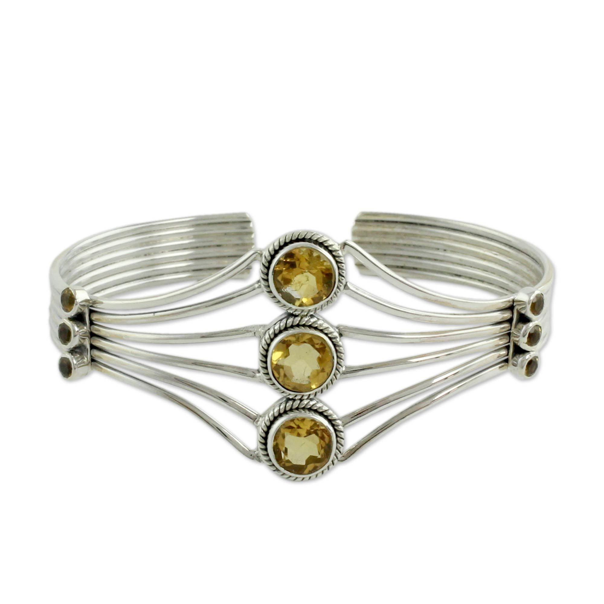 Novica citrine cuff bracelet uglamouru products pinterest