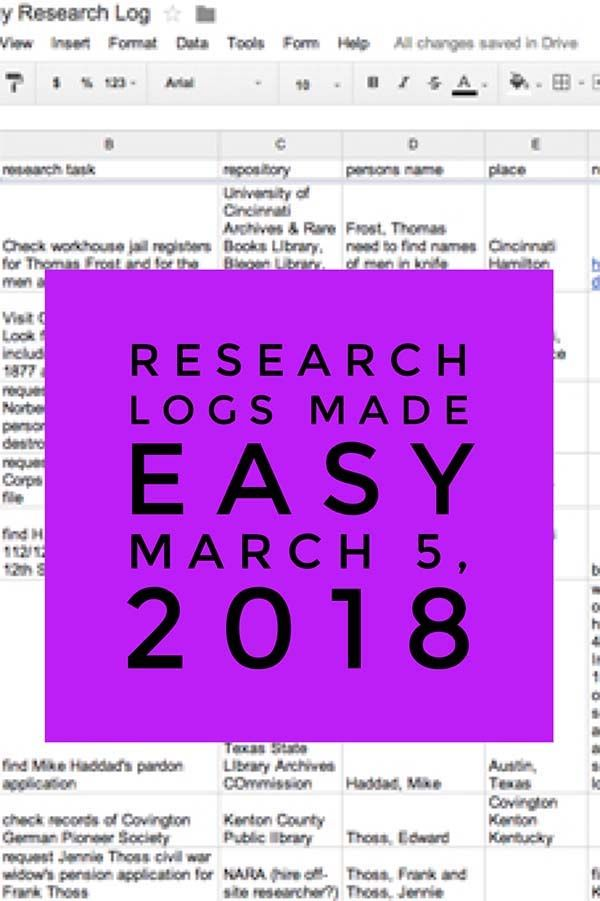 Finally! A Way to Organize Your Genealogy Research March 5, 2018 - check request form