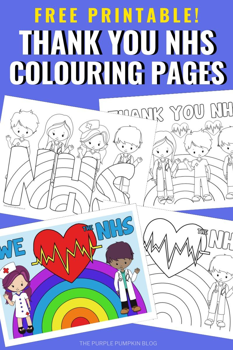 Thank You Nhs Colouring Pages Colouring Pages Coloring For Kids Bear Coloring Pages
