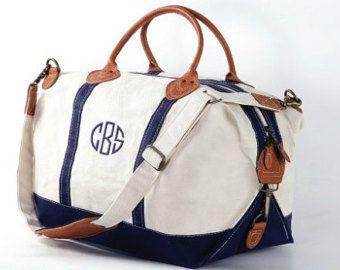 Monogrammed Weekender - Monogrammed Duffle Bag - Monogrammed Overnight Bag - Monogrammed Carry-On Bag -
