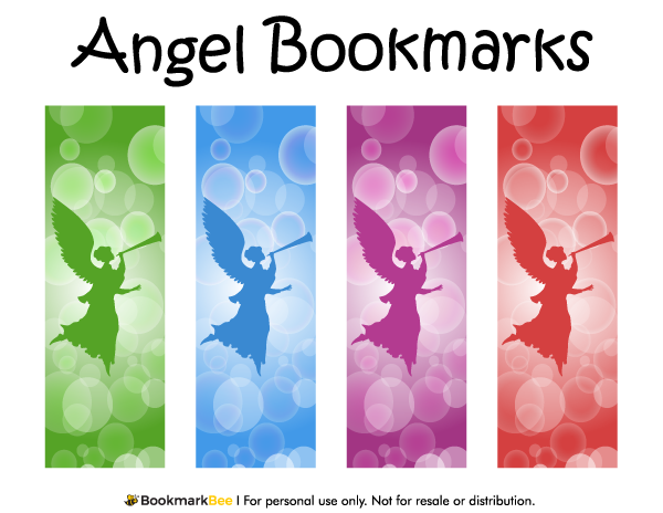 Free printable angel bookmarks download the pdf template at http bookmarkbeecom bookmark for Printable bookmarks pdf