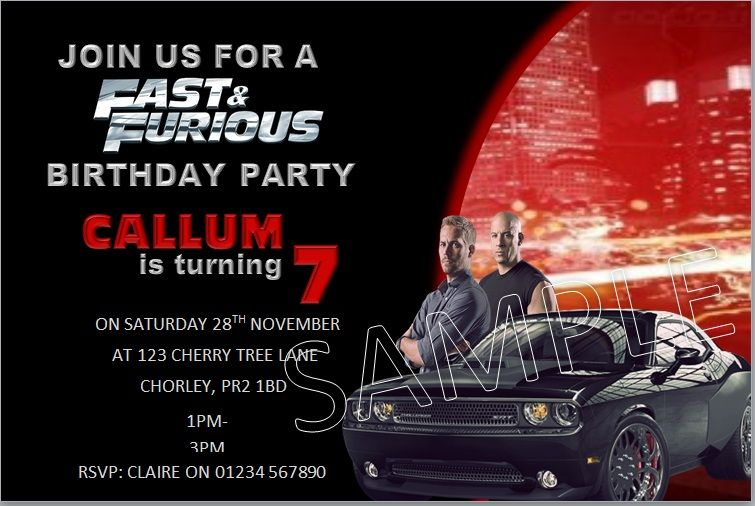 fast and furious invite party planning in 2018 birthday party
