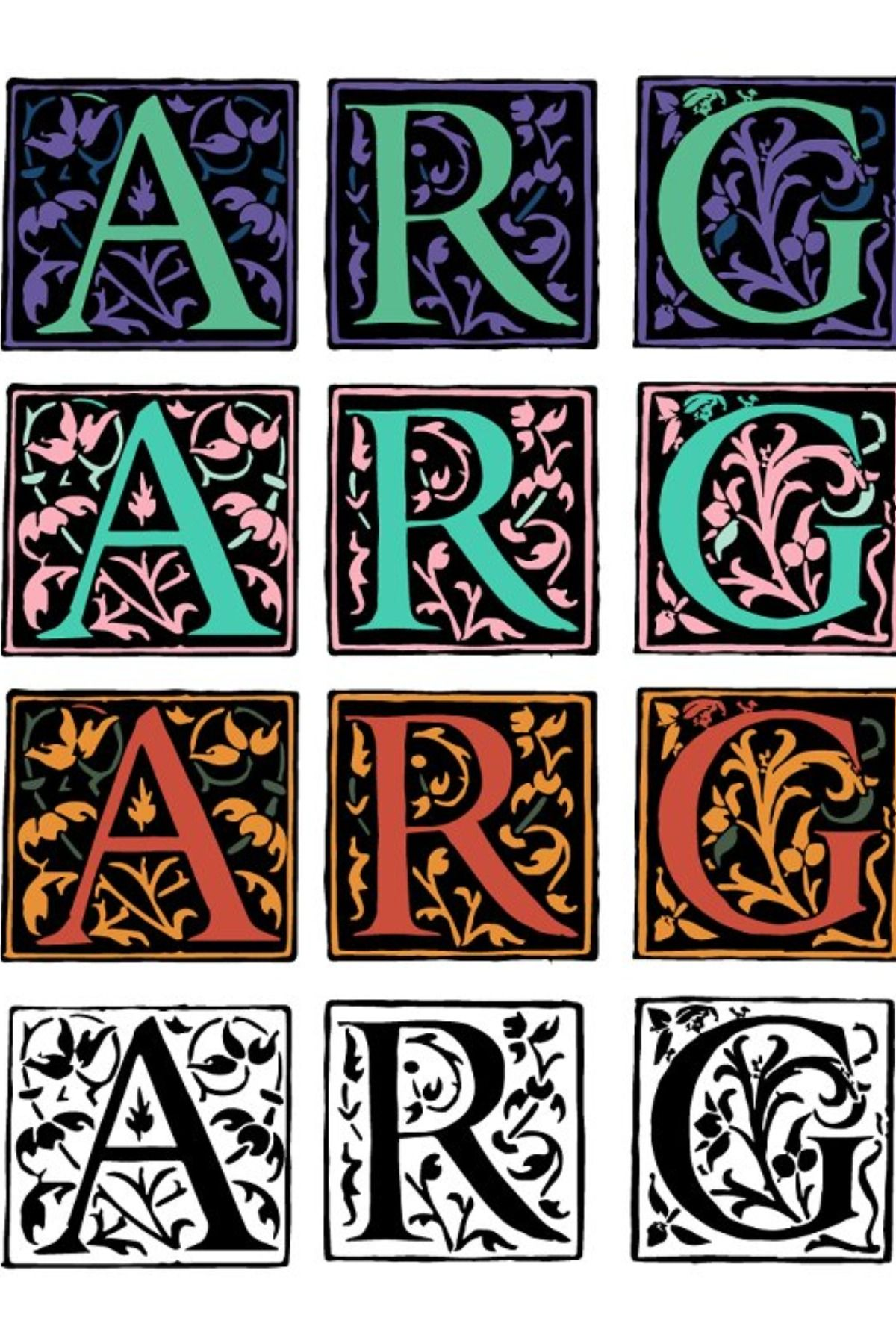 Margo Color Font SVG Beautiful and colorful capitular