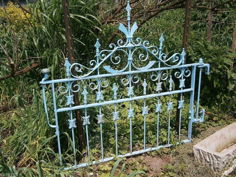Architectural Victorian Wrought Iron Garden Gate Garden
