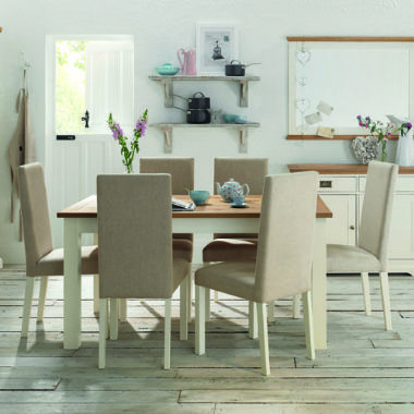 Awesome Provence Two Tone Upholstered Dining Chairs 89 Each Interior Design Ideas Tzicisoteloinfo