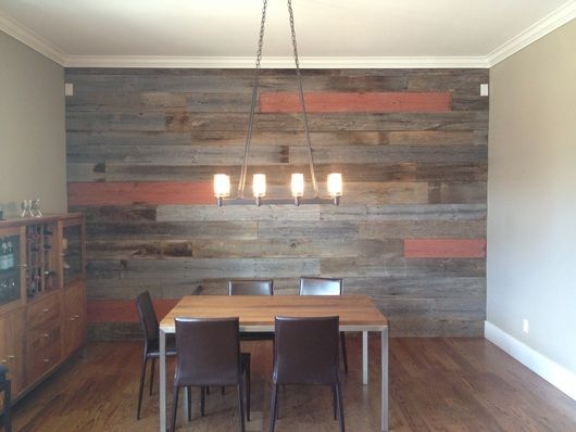 Wood Accent Wall In Back Room