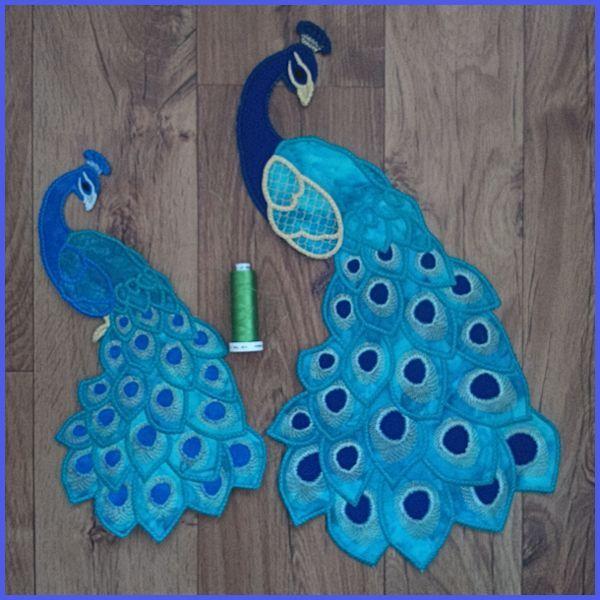 Large Peacock Applique | Vorlagen und Nähen