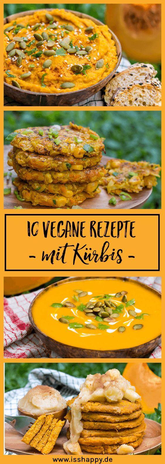 10 vegane Rezepte mit Kürbis - lecker, einfach und gesund! #pumpkinrecipes