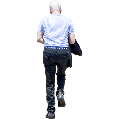 A Cutout Of An Older Man Climbing Up Stairs With White Hair The Man Has White Hair Not The Stairs Black Pants Men People Cutout Black Pants