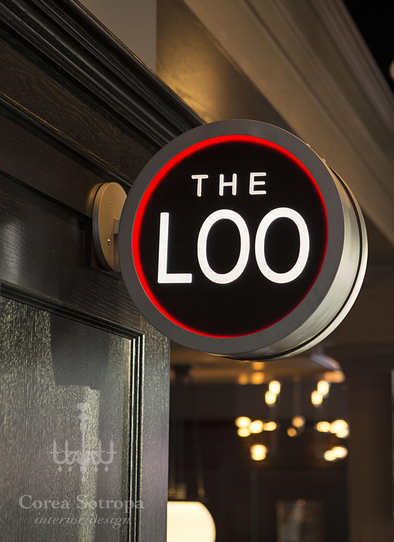 Bathroom signage calgary restaurant design the