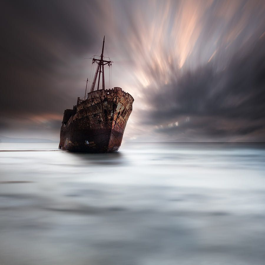 """a shipwreck in Gytheio, Peloponnese, Greece. Visit my : <a href=""""https://www.facebook.com/pages/Vassilis-Tangoulis-Fine-Art-Photography/671503359551074"""">Official FB page</a>