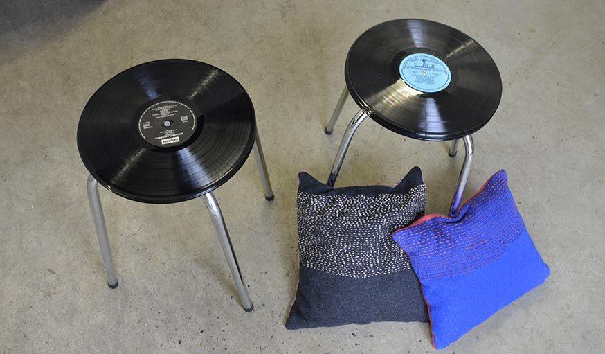 Diy Un Des Pour Vinyles Fabriquer Disques Tabouret Avec Siège fIYyv6bgm7