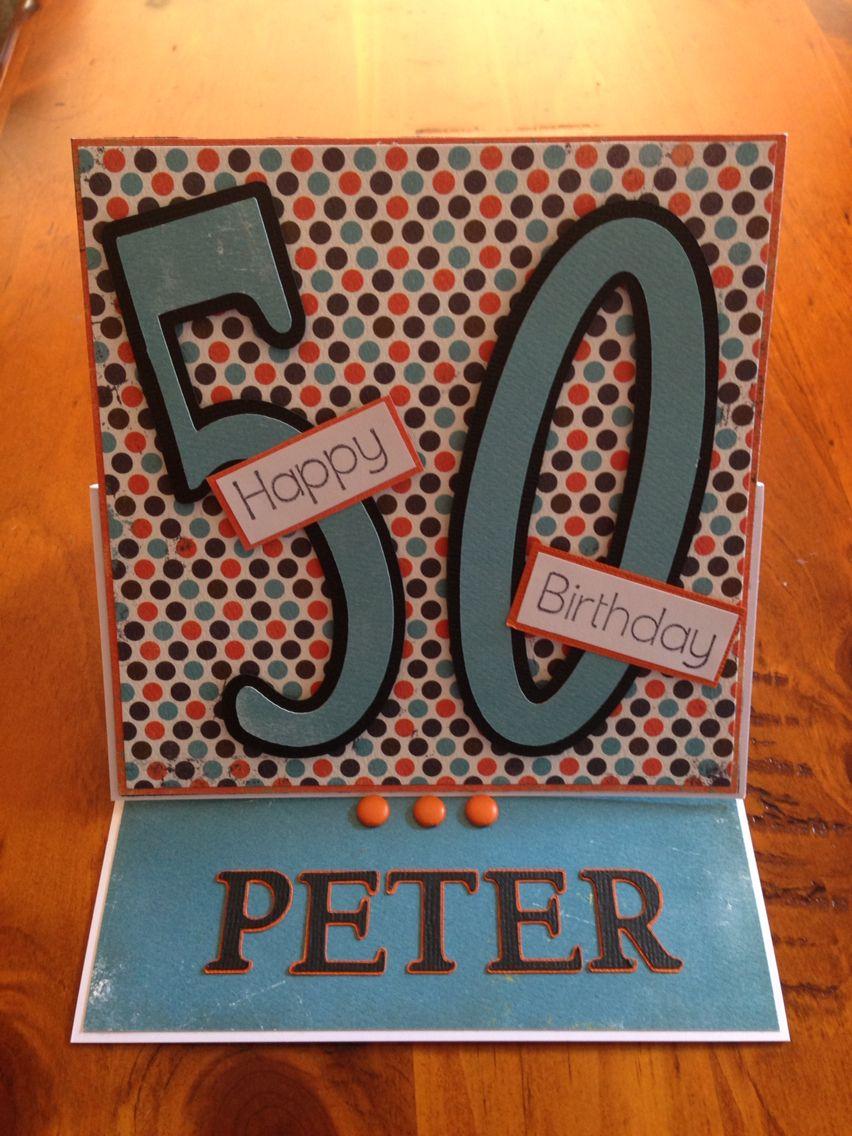 50th masculine birthday card Masculine birthday cards