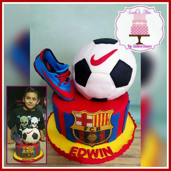 FCB cake made for my nephew! Huge messi fan and awesome soccer player!