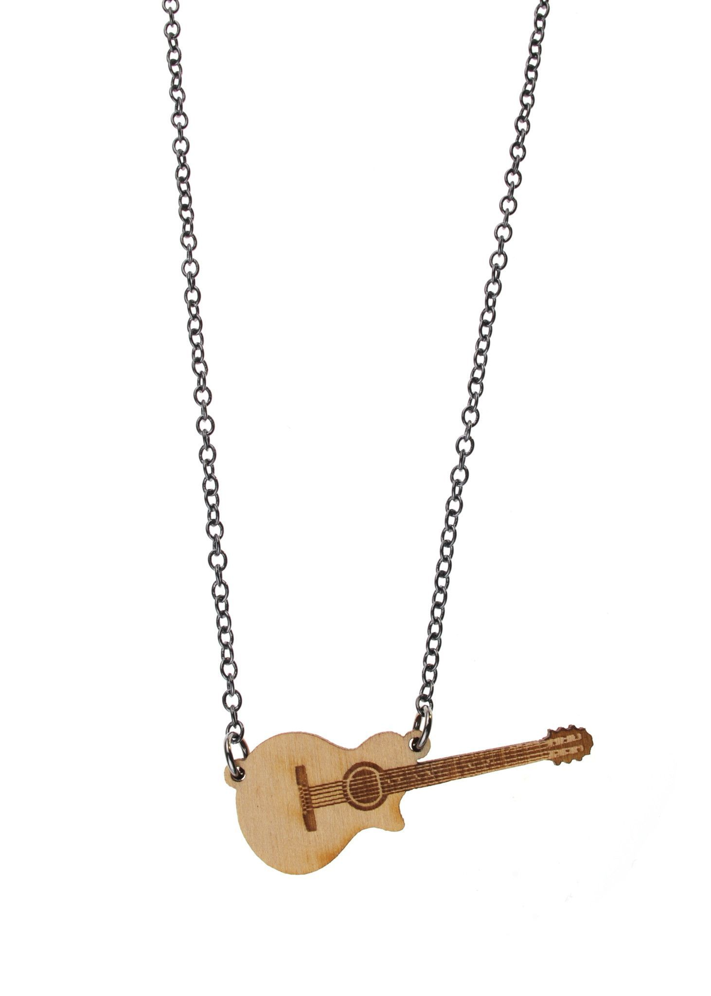 fye guitar stylin necklace fender neck skull