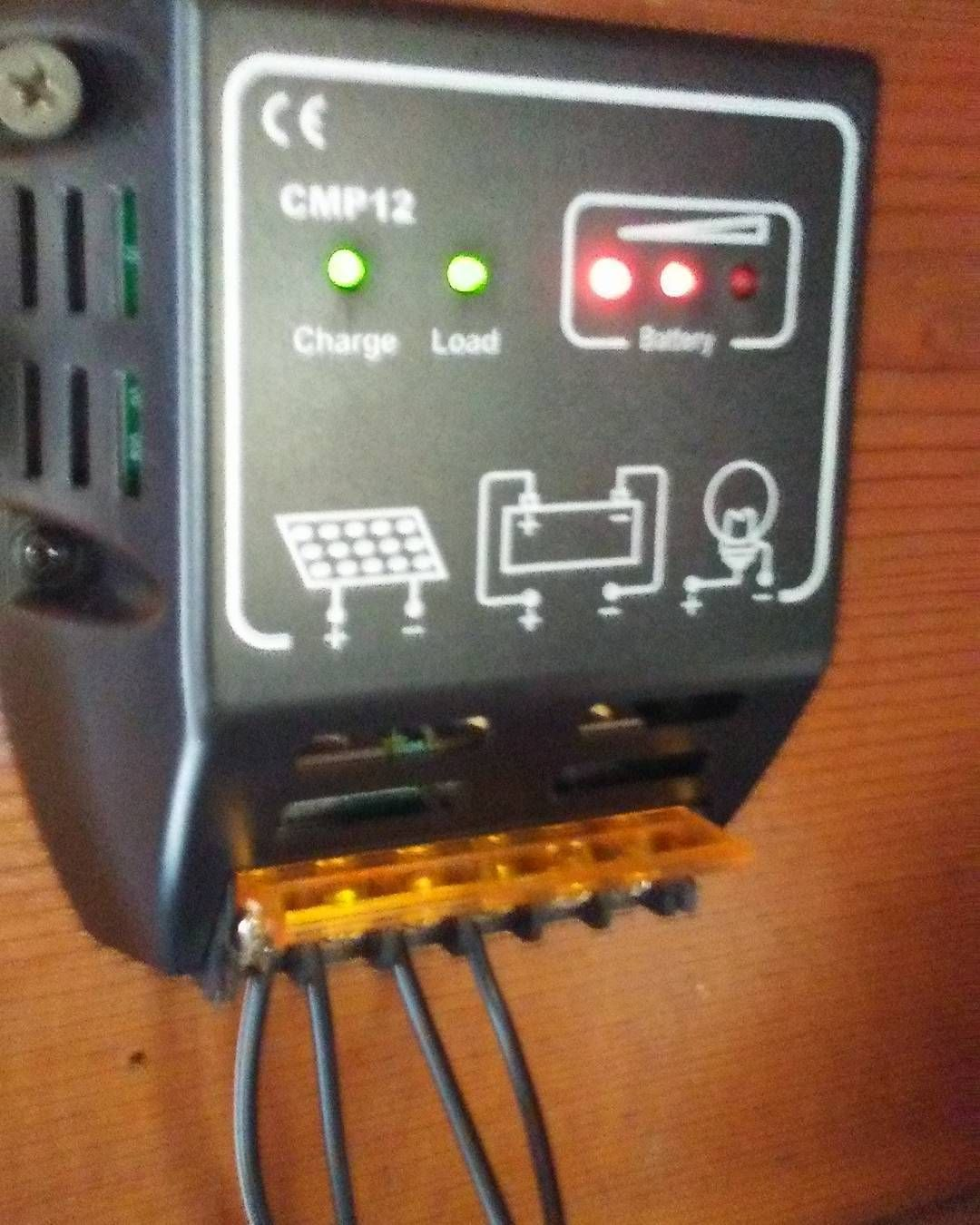 My solar charge controller #sun#windpower#solar#solarpanels