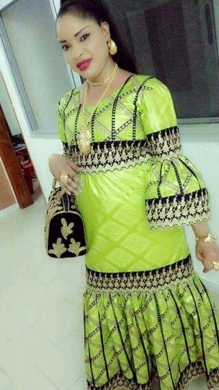 Model de robe en pagne petite fille