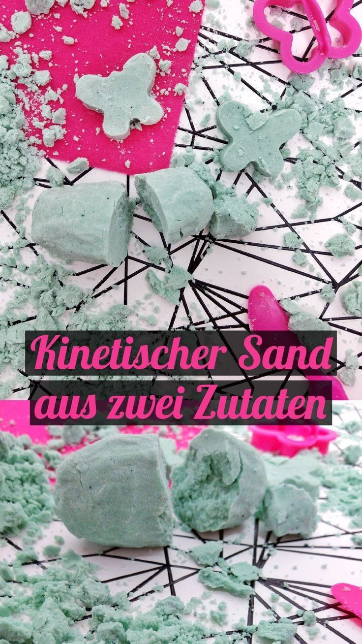 Kinetischen Sand selber machen - Experimente mit Kindern - kleinliebchen #kneteselbermachenrezept