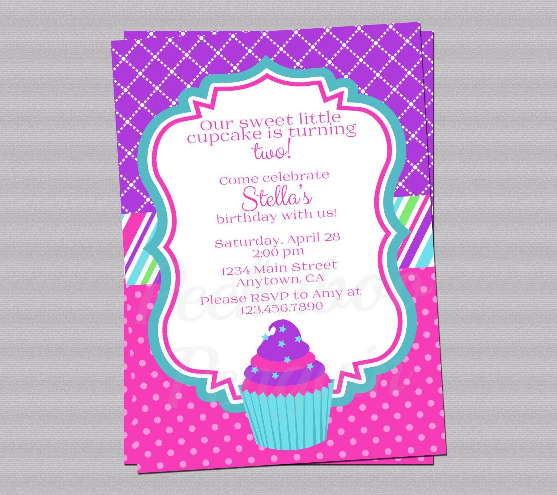 Cupcake Birthday Invitation S