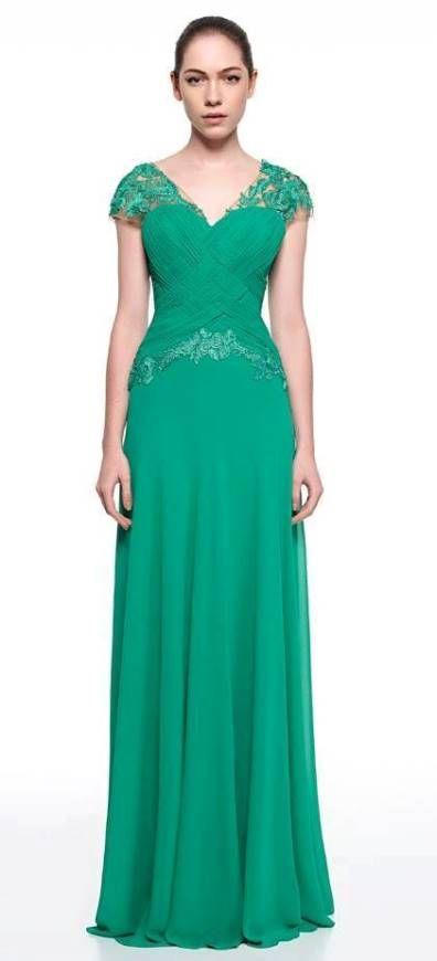 Vestido cor verde escuro