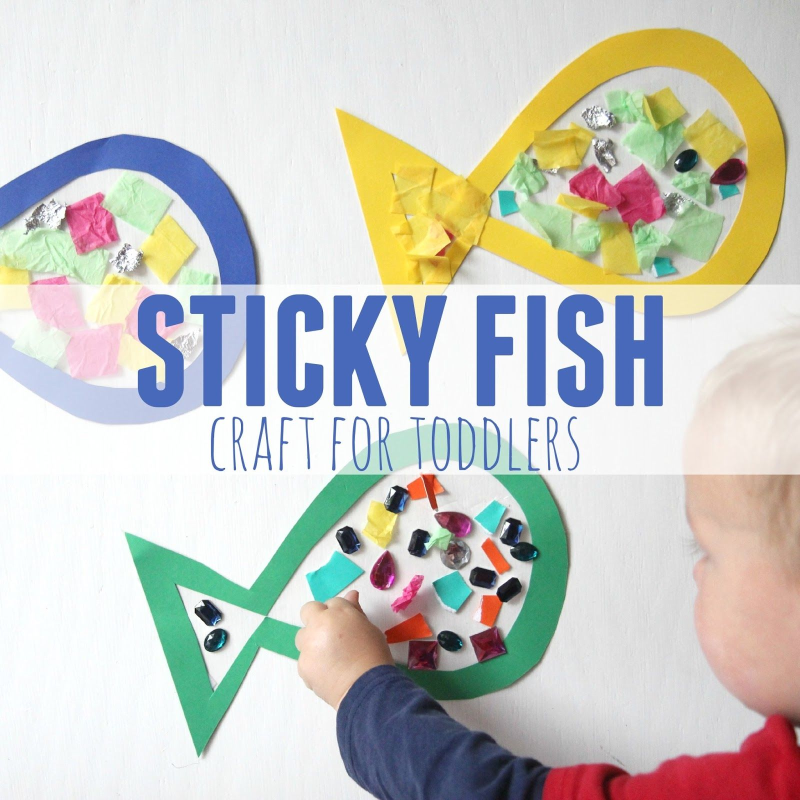 Sticky Fish Craft For Toddlers