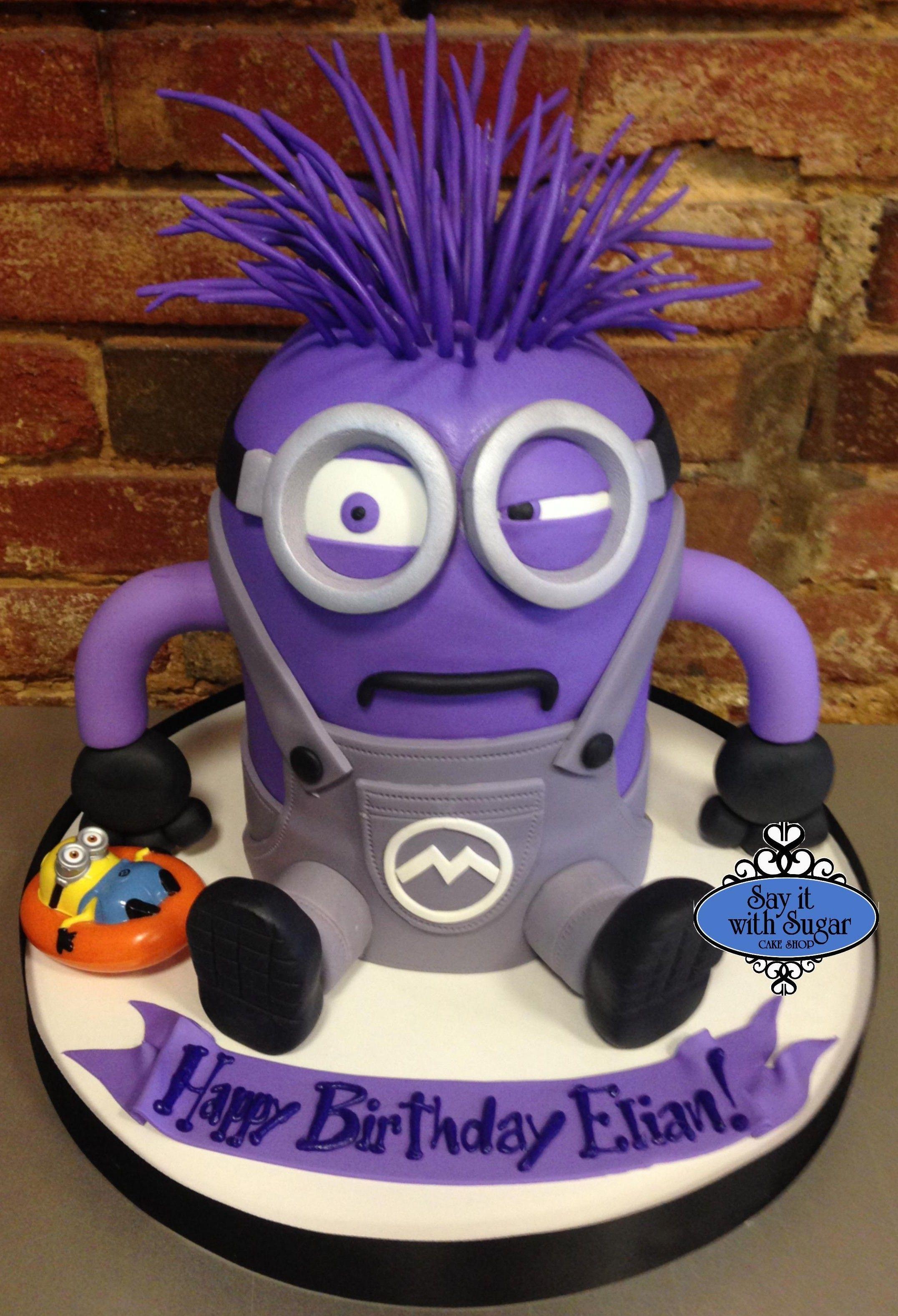 purple minion cake kochen backen co pinterest geburtstage und backen. Black Bedroom Furniture Sets. Home Design Ideas