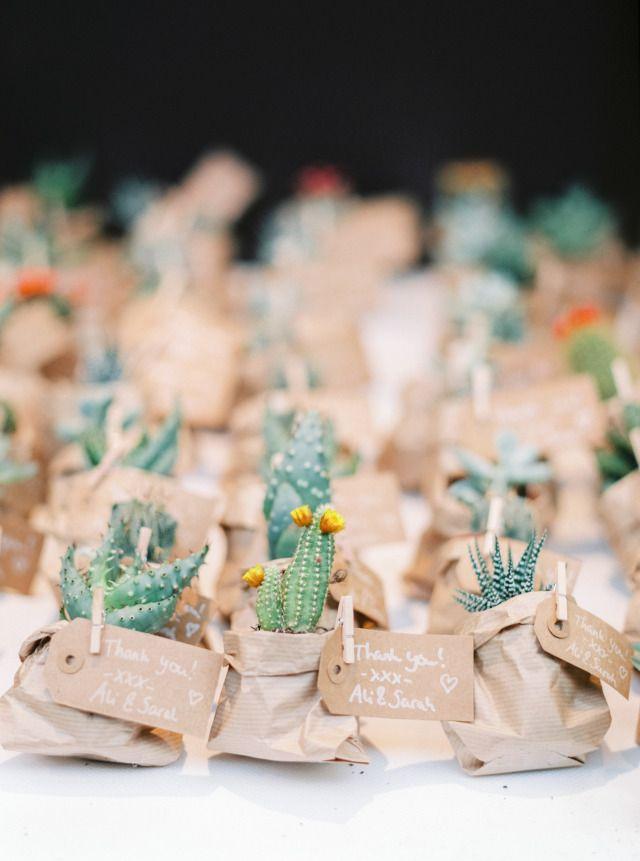 Originele Huwelijksbedankjes Trouwen Cactus Bruiloft