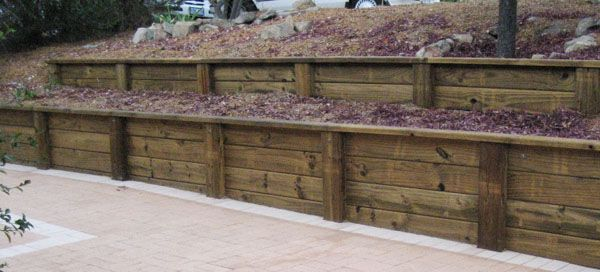 Treated Wood Retaining Wall Design Pine Sleepers