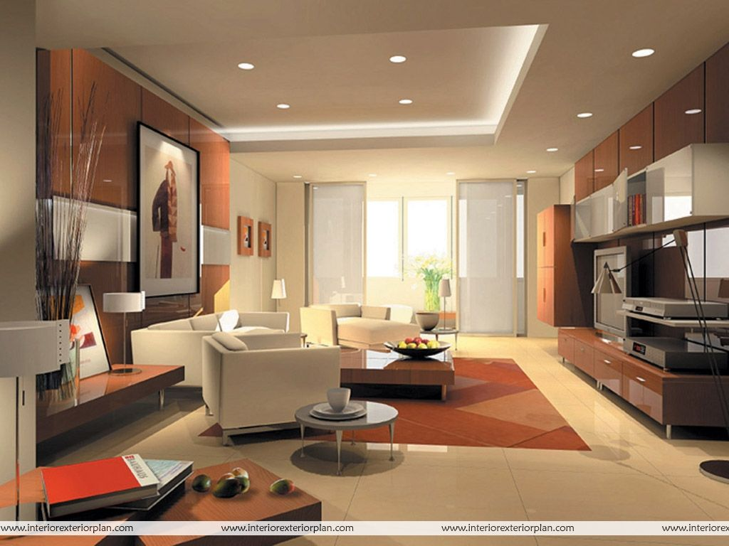 Living Room Modern Living Room Decoration With Big