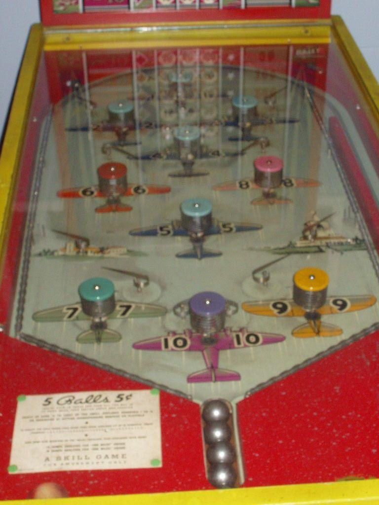 1937 Bally Airway of 1937 Penny arcade, Pinball