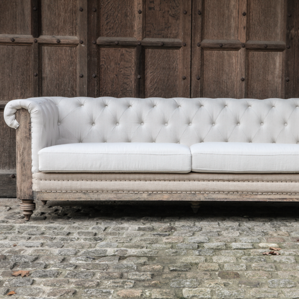 Francis Drake 104 Inch Linen Blend Chesterfield Sofa Cozy Living Room Furniture Living Room Furniture Sofas Wayfair Living Room Chairs