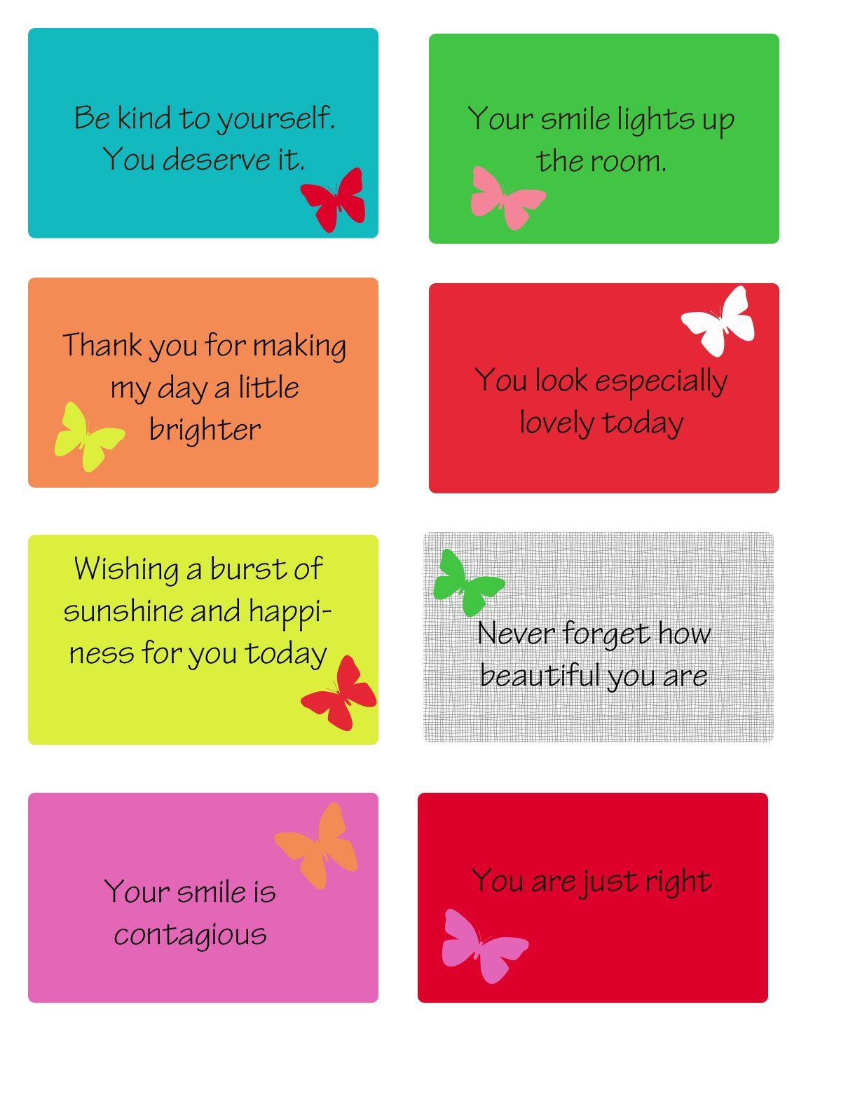 Free Printable Kindness Cards