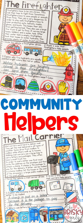 Community Helpers Reading Passages Community Helpers First Grade Community Helpers Activ Community Helpers Community Helpers Elementary Elementary Activities [ 2880 x 1075 Pixel ]