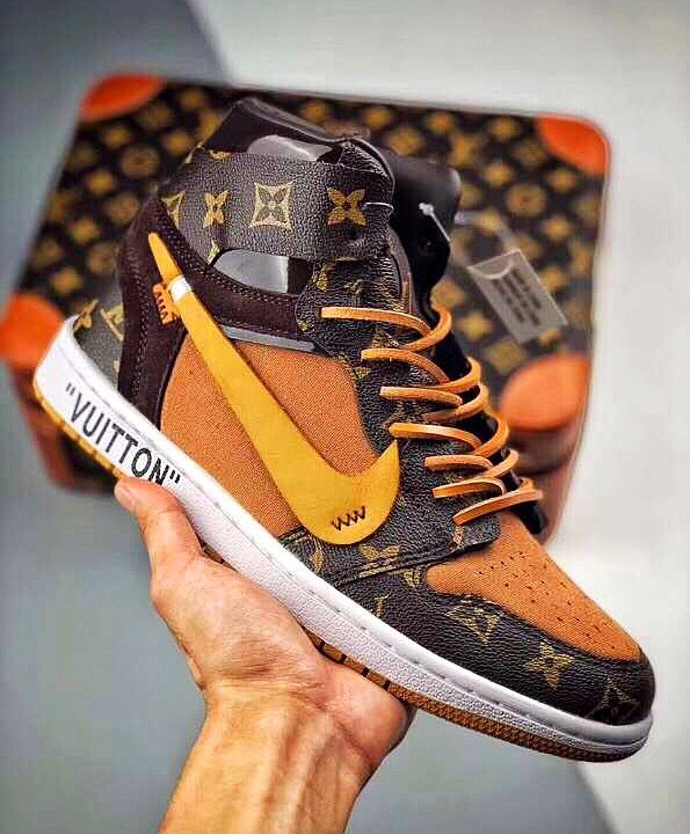 4c98954e2fd5 Off White x Louis Vuitton x Air Jordan Inspired Off Louis Air Jordan 1 –  Celebrity Inspiracion