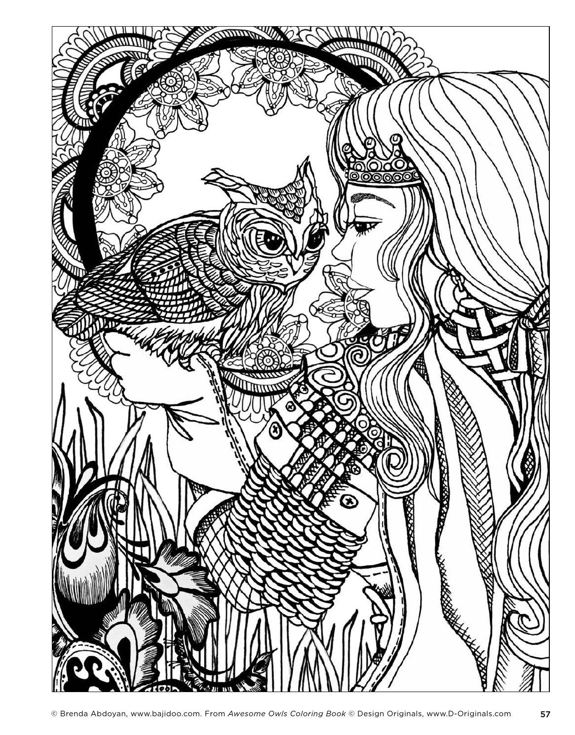 Awesome Owls Coloring Book Owl Coloring Pages Coloring Pages Abstract Coloring Pages