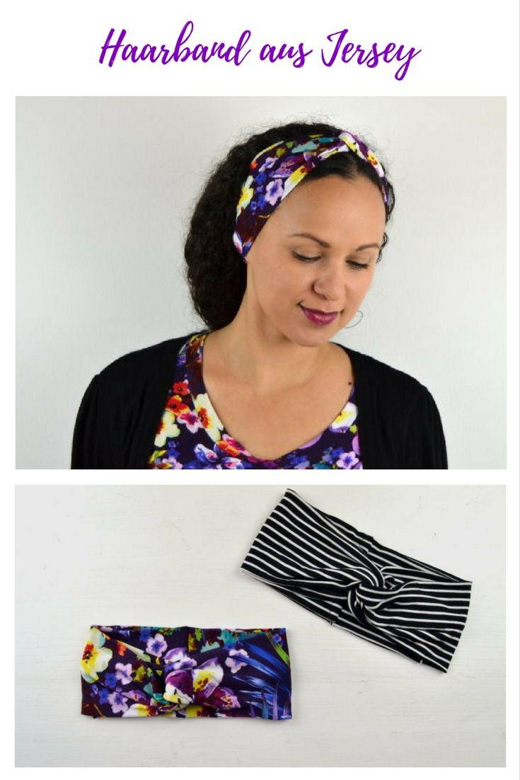 DIY Turban Haarband nähen #stoffresteverwerten