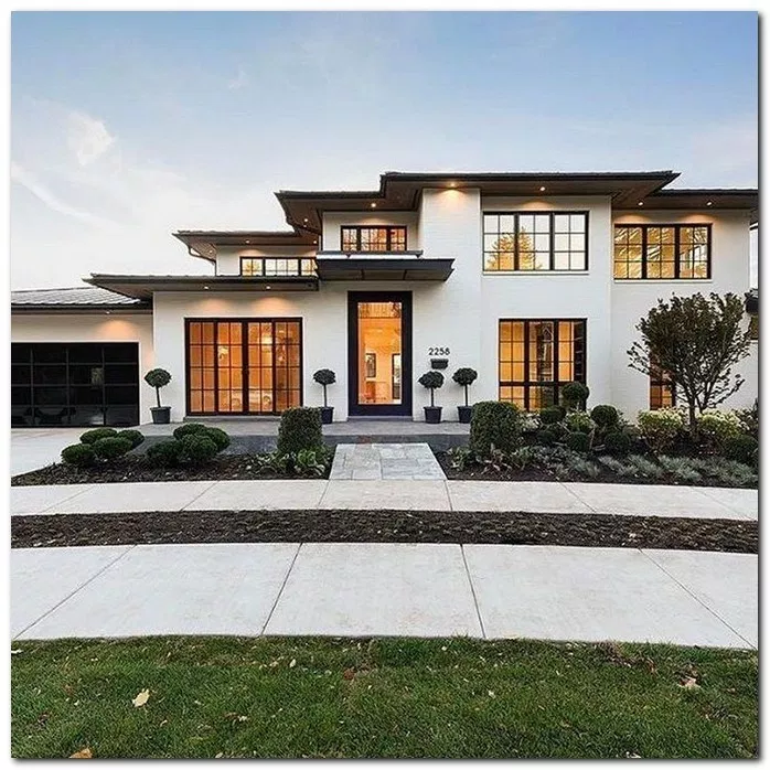 25 Stunning Modern Dream House Exterior Design Ideas 25 White Exterior Houses House Designs Exterior Modern House Exterior