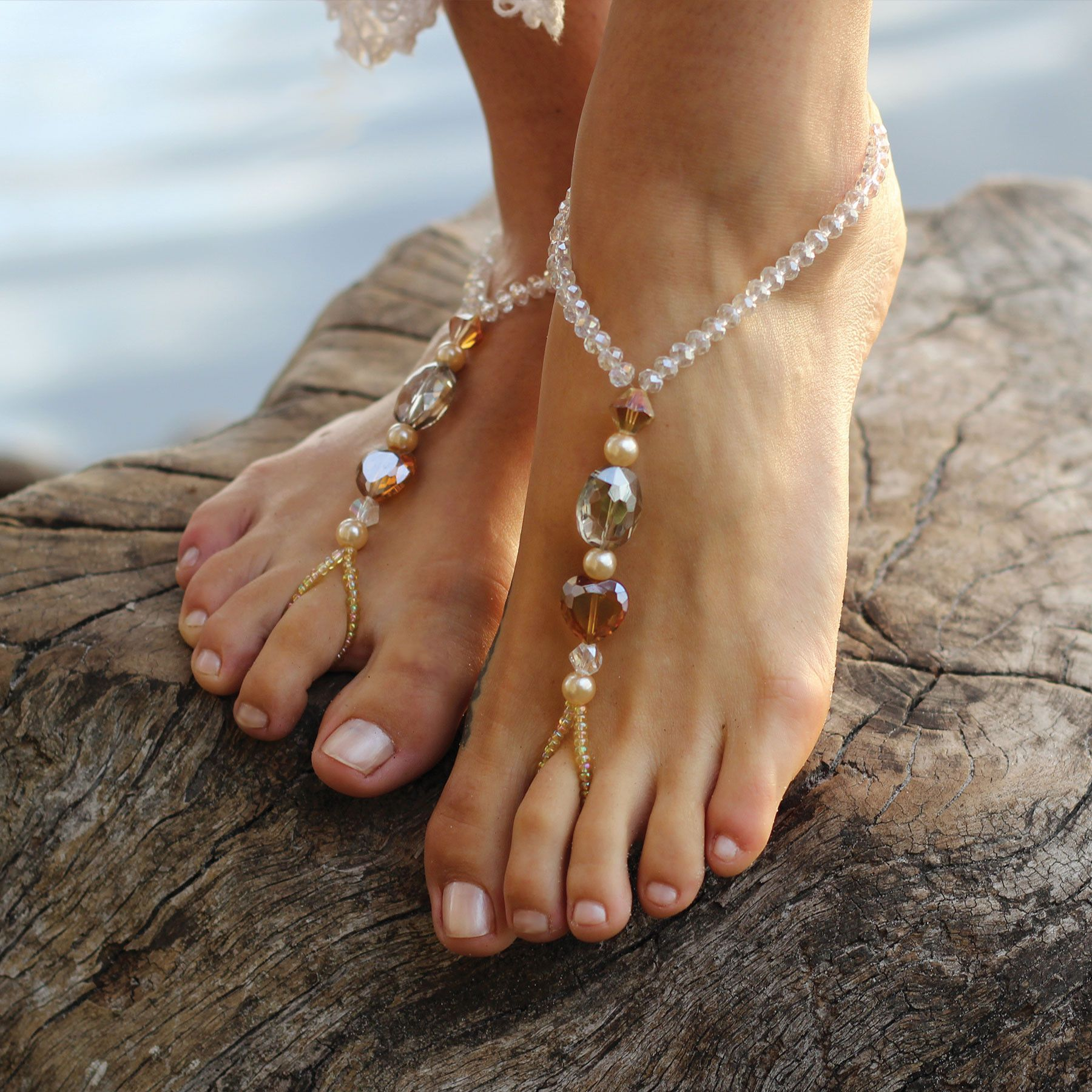 Galliano Jewelled Barefoot Sandals Soles