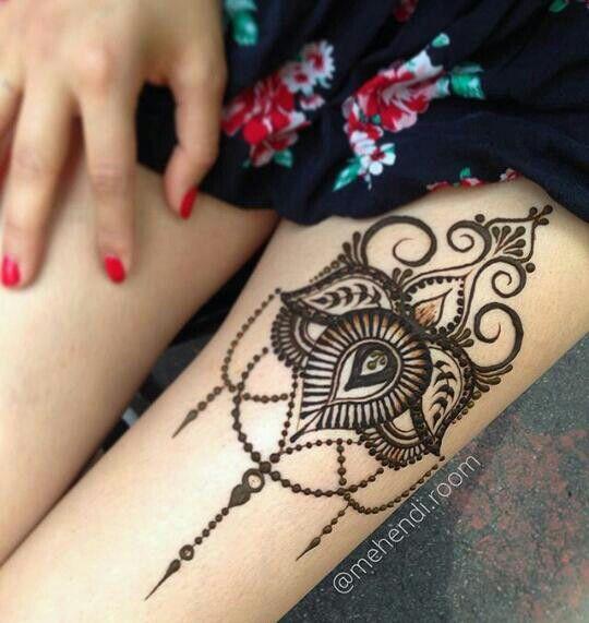 Thigh Henna Tattoos Easy: Thigh Henna, Wrist Henna, Leg Henna