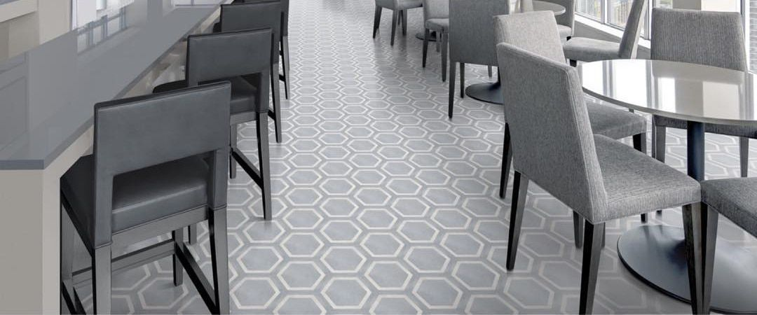 Form 8 X 7 Framed Hexagon Tide Matte Finish Porcelain Tile
