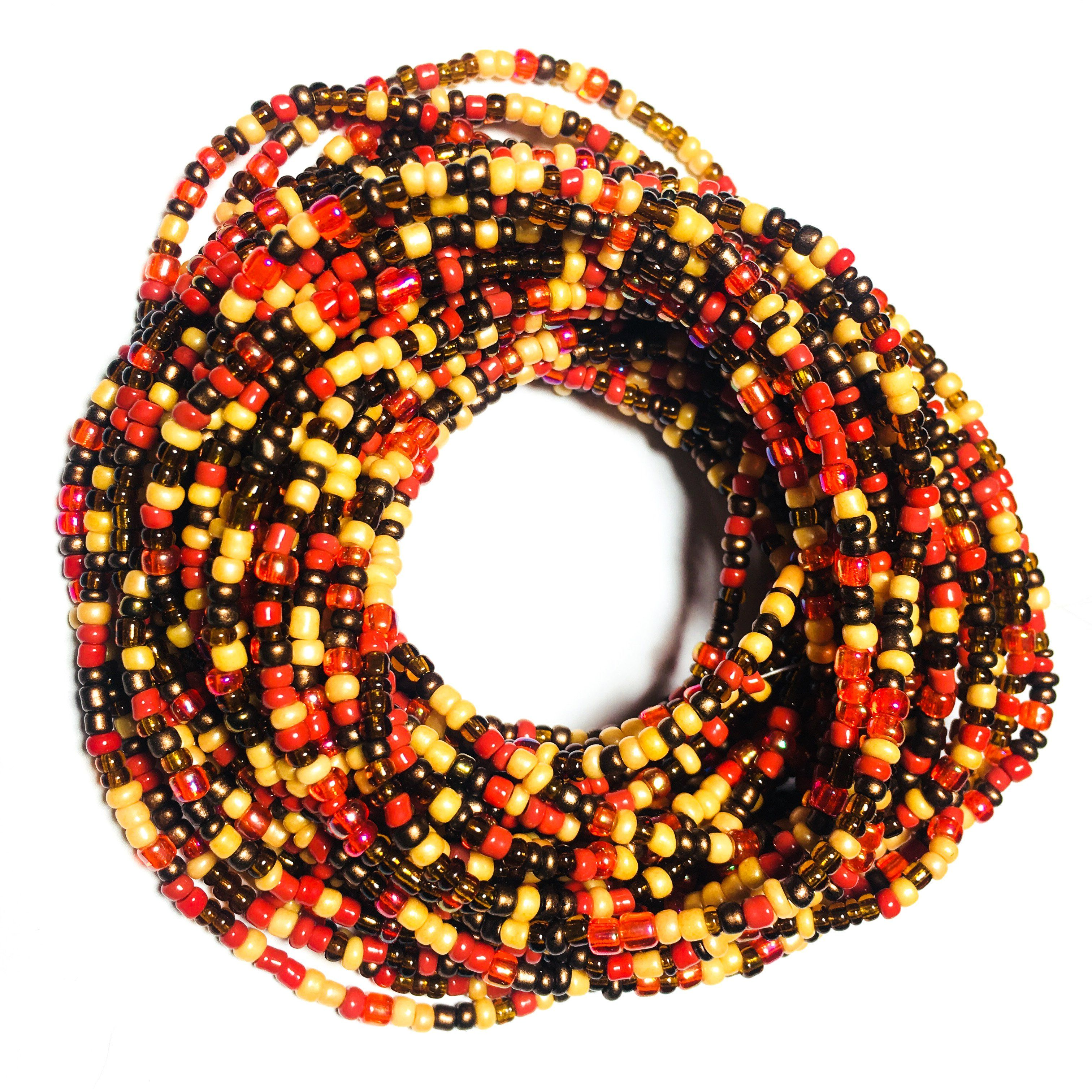 Mixed fall african waist beads beads how to make beads