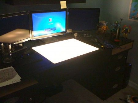My Computer/Drafting/Light Table Desk!
