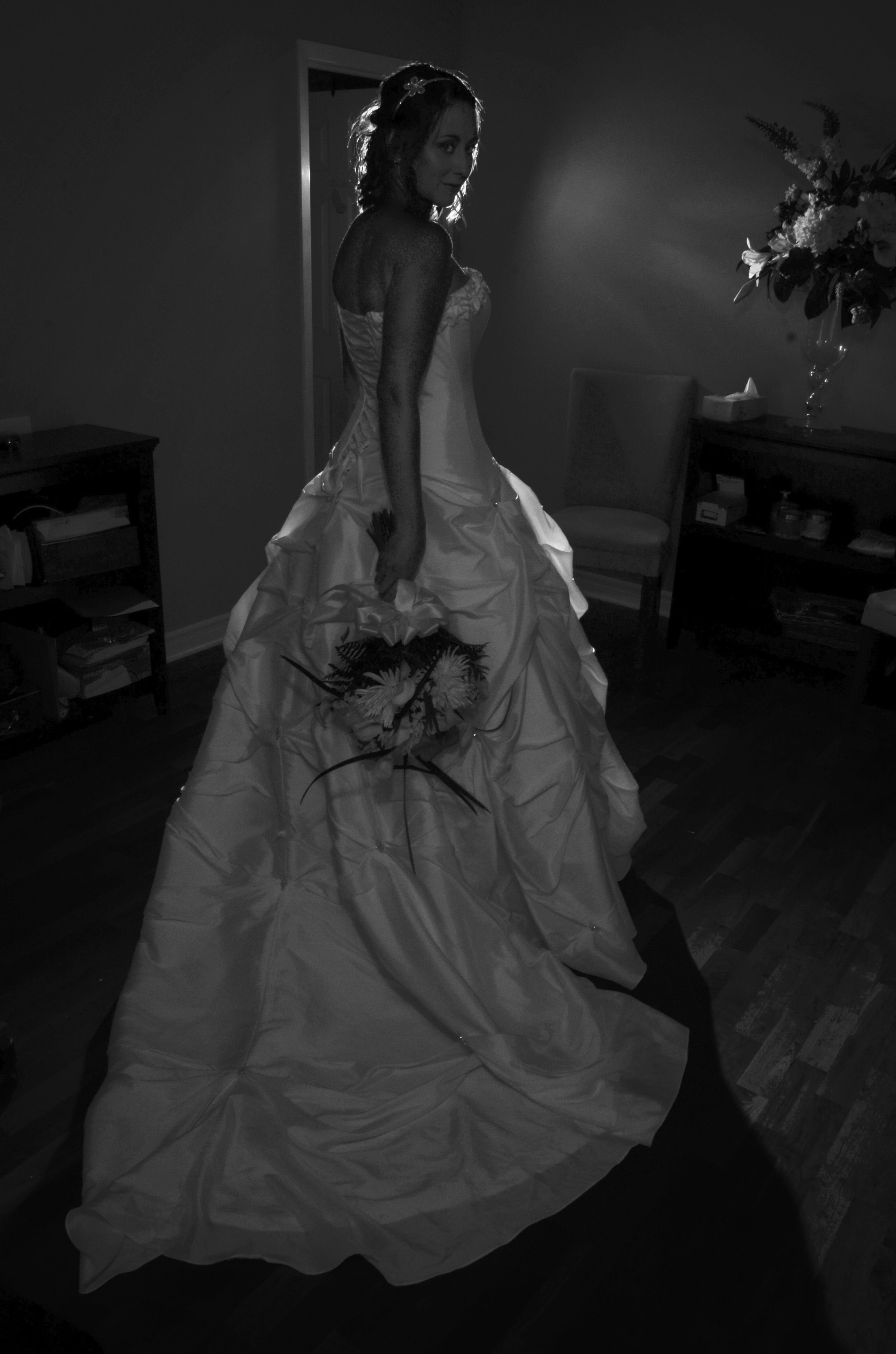 Black white wedding dress  llyharperphotography Bride Wedding Photography Wedding