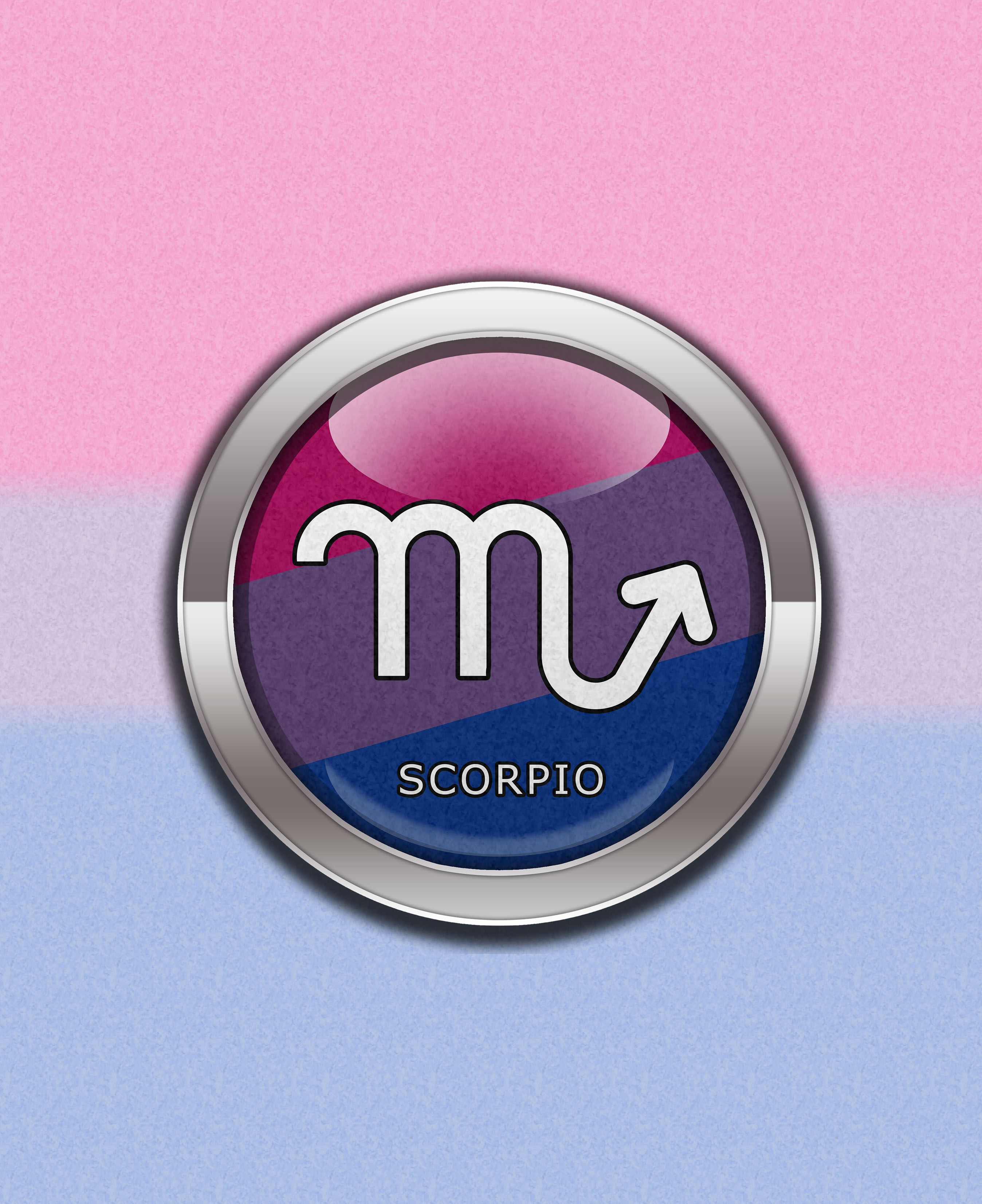 Scorpio bisexual pride bisexual pride scorpio horoscope symbol in scorpio bisexual pride bisexual pride scorpio horoscope symbol in bisexual pride flag colors round biocorpaavc Gallery
