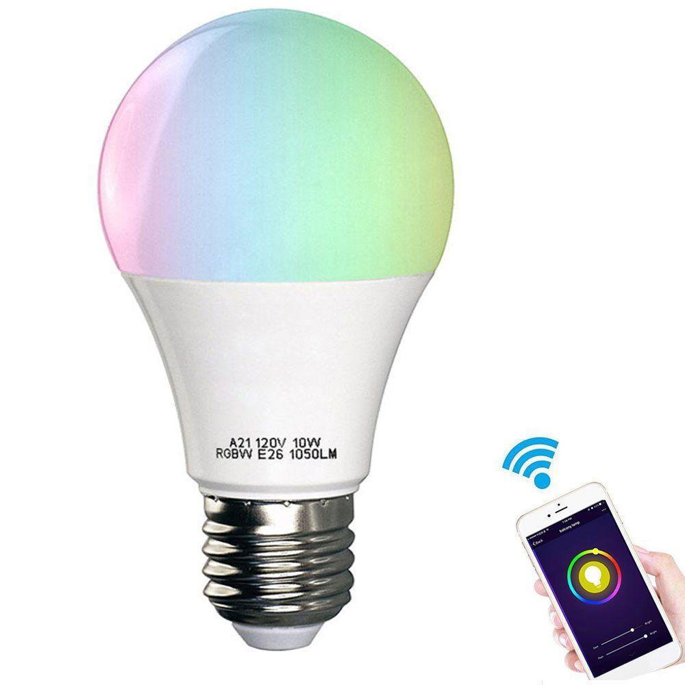 Smart Light Bulb Eeekit Wifi Led Light Bulbs Compatible With Amazon Alexa Google Home Wireless App Controlled Dimm Light Bulb Smart Light Bulbs Led Light Bulbs