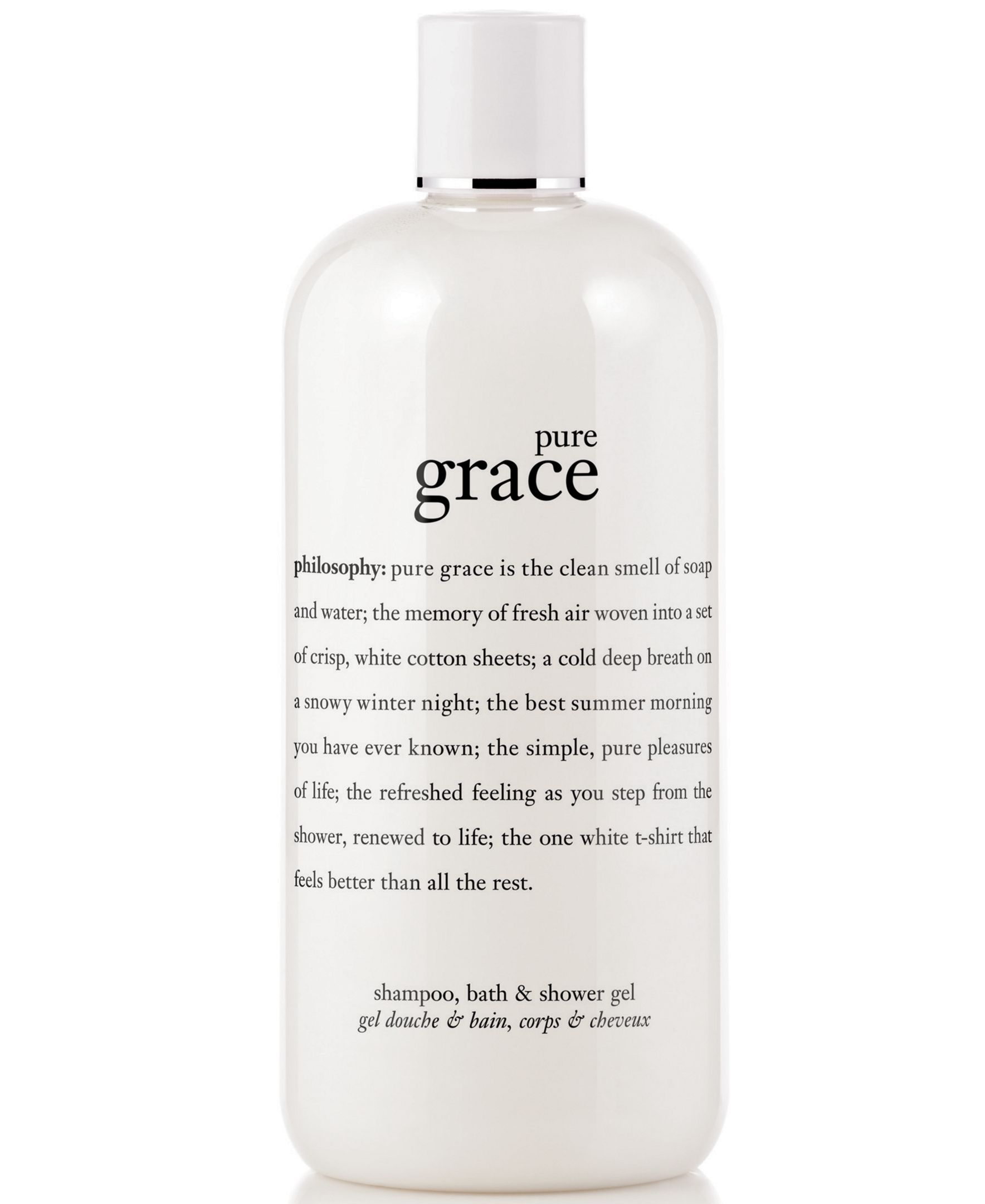 Philosophy Pure Grace 3 In 1 Shampoo Shower Gel And Bubble Bath 16 Oz Reviews Skin Care Beauty Macy S Shower Gel Pure Products Shampoo