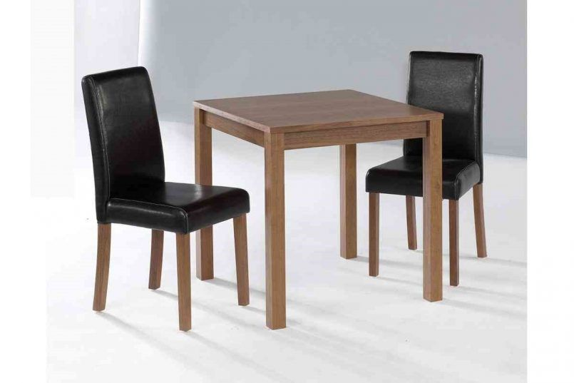 Dining Room Wooden Dinette Table Black Leather Dining Chair How to ...