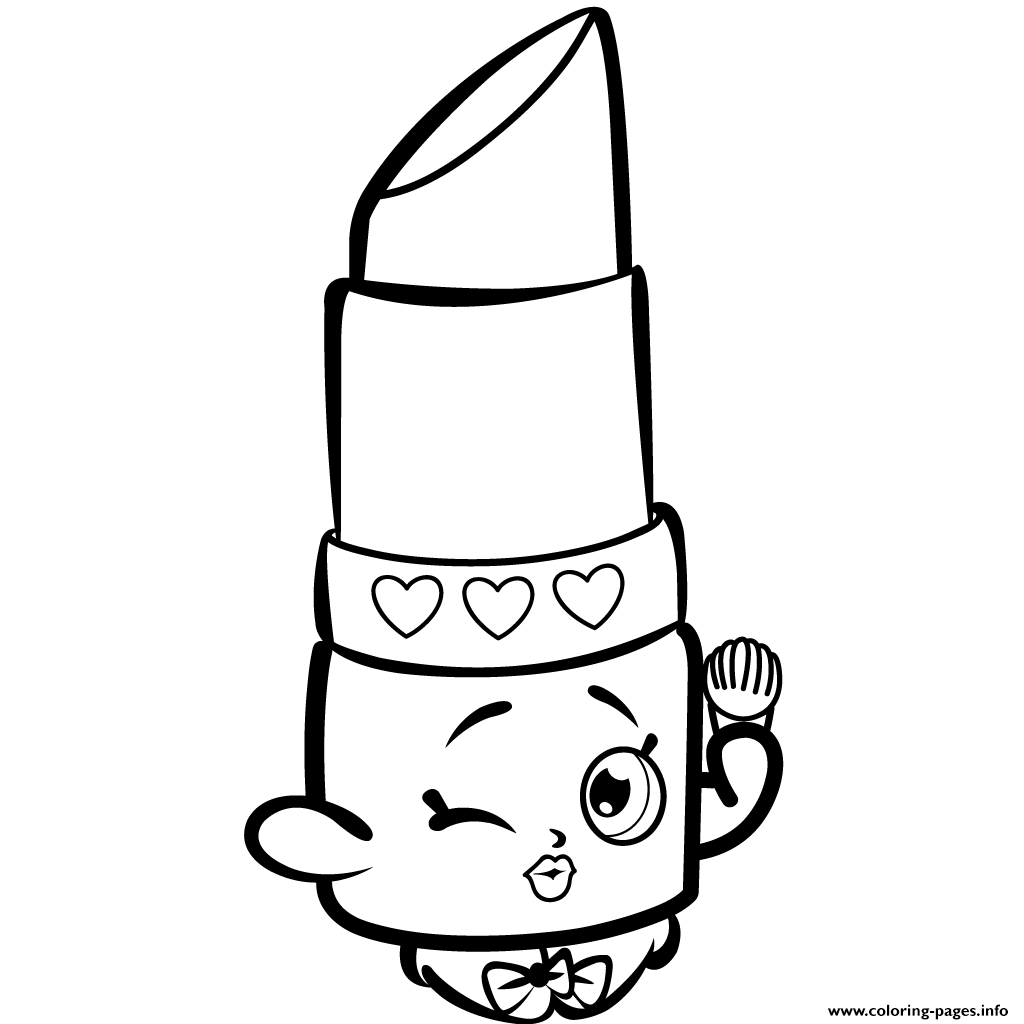 Print Beauty Lippy Lips Shopkins Season 1s Coloring Pages Shopkins Coloring Pages Free Printable Shopkin Coloring Pages Shopkins Colouring Pages
